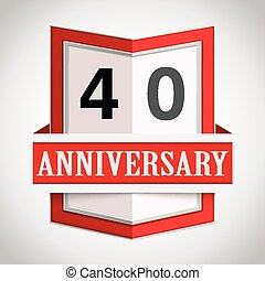 Anniversary modern colorful abstract background