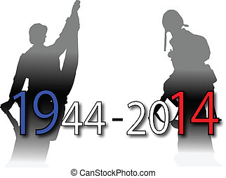 anniversary of two world wars in Europe and Usa