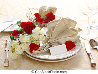 Anniversary Or Valentine Table Setting