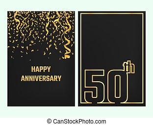 Anniversary Outline card gold