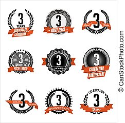 Anniversary Red Badges 3rd Years