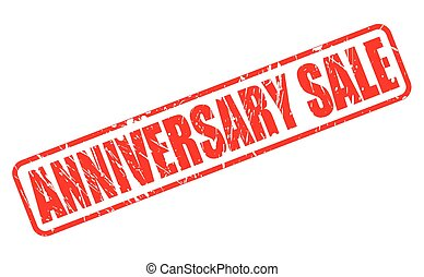 ANNIVERSARY SALE RED STAMP TEXT