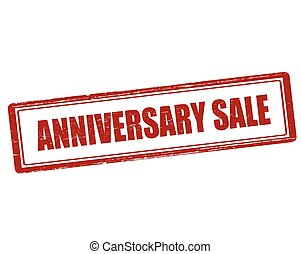 Rubber stamp with text anniversary sale inside, vector illustration