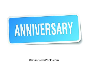 anniversary square sticker on white