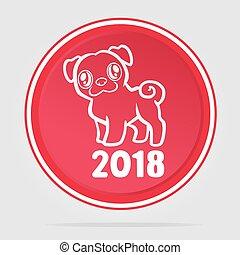 anno, cane, cinese, 2018