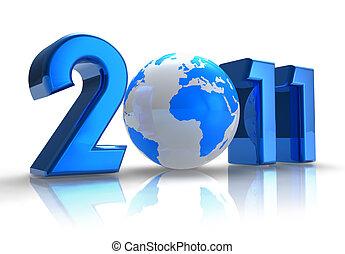 anno nuovo, 2011, concetto