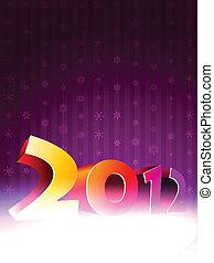 anno nuovo, 2012, fondo, felice