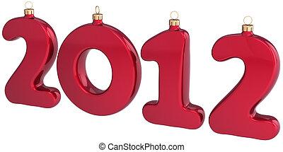 anno nuovo, 2012, fronzolo, palla natale