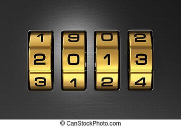 anno nuovo, 2013, concetto