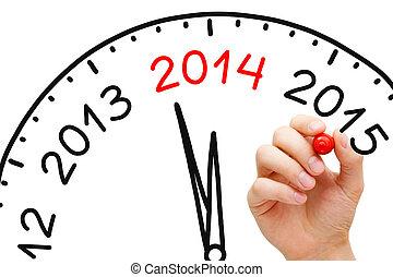 anno nuovo, 2014, concetto