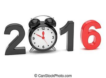 anno nuovo, 2016, concetto
