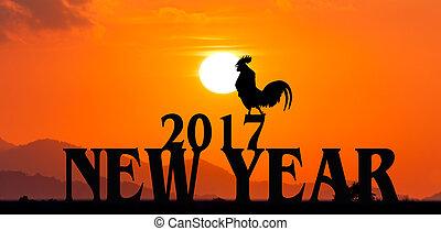 anno nuovo, 2017, concetto