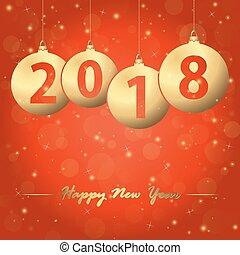 anno nuovo, 2018, natale, bolle