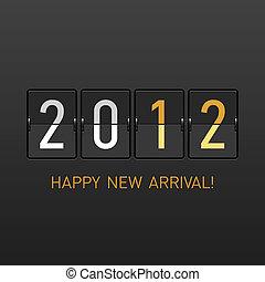 anno nuovo, arrivo, 2012