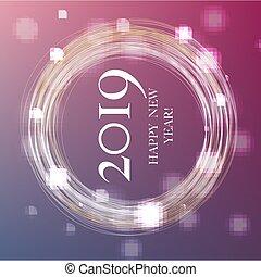 anno nuovo, bandiera, 2019