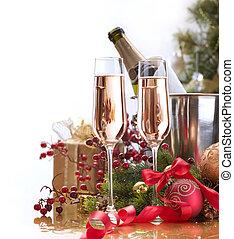 anno nuovo, celebration.champagne