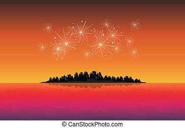 anno nuovo, città