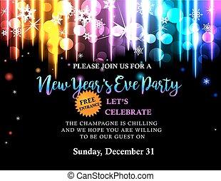 anno nuovo, festa, invito
