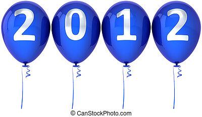 anno nuovo, natale, 2012, palloni