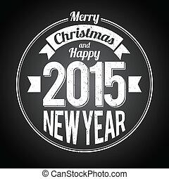 anno nuovo, nero, natale, augurio