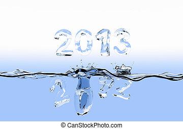 anno, schizzo, fine, 2012
