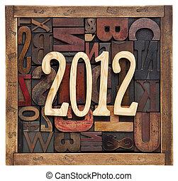 anno, tipo, letterpress, 2012