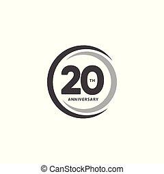 anno, vettore, sagoma, 20, disegno, anniversario, ...