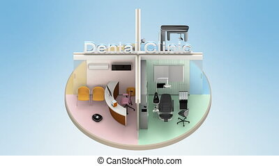 annodare, dentale, animazione, clinica