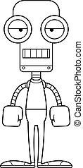 annoiato, cartone animato, robot