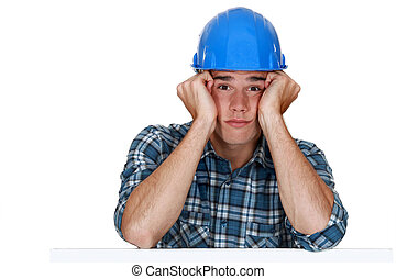 annoiato, lavoratore costruzione