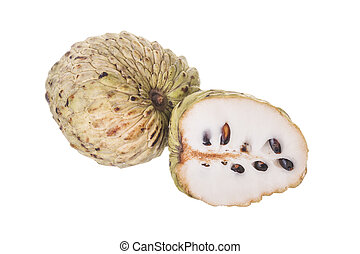 annona - Asian fruit - annona on a white background