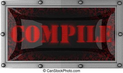 annonce, affichage diodes électroluminescentes