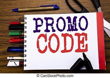 annonce, concept, stylos, bureau affaires, promo, texte, projection, équipement, écrit, cahier, code., fond, ligne, marqueur, ciseaux, promotion, coloré, écriture, bois, aimer