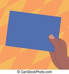 annonce, couleur, texte, papier, conception, vide, espace copy, isolé, gabarit, dessiné, vide, site web, tenue, business, hu, carton, bannière, analyse, vecteur, présentation, main, promotion