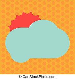 annonce, couleur, texte, pelucheux, conception, vide, nuage, briller, annonces, espace, soleil, isolé, derrière, gabarit, vide, site web, business, affiche, copie, bannière, dissimulation, vecteur, promotion