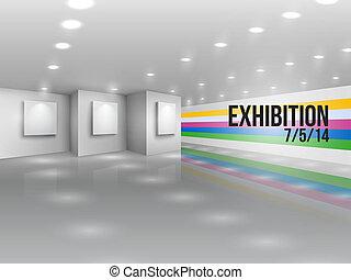 annonce, publicité, exposition, invitation