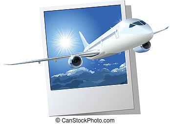 annonce publicitaire avion