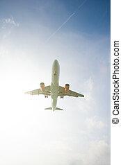 annonce publicitaire avion, jet