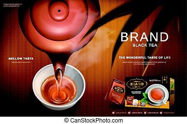 annonce, thé noir