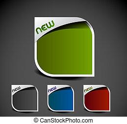 annons, etiketter, klistermärken