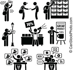 annons, marknadsföra, strategi