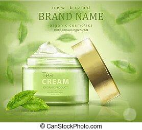 annonser, te leaves, flygning, grön, skinn, baner, omsorg
