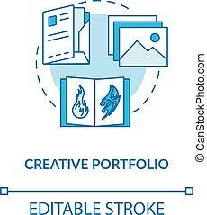annonsering, vektor, designer, drawing., färg, leaflet., illustration., design, skissera, skapande, konstverk, slag, portfölj, journal, prov, arbeten, begrepp, fodra, rgb, editable, idé, tunn, icon., studio, isolerat