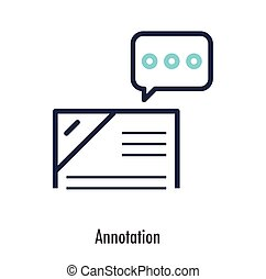 Annotation icon business concept. vector illustration.