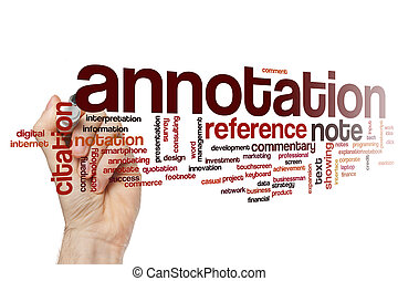 Annotation word cloud concept