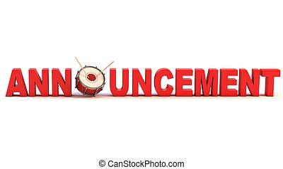 announcement 3d concept
