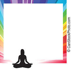 announcement form with silhouette illustration of a woman...
