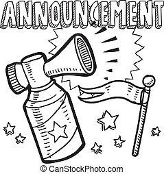 Announcement sketch
