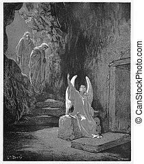 announces, steget, ängel, jesus