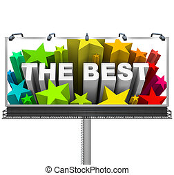 Announcing the Best on a Huge Billboard for Top Prize - An...